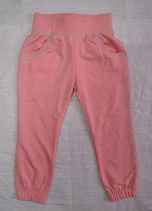 Детские спортивные штаны двунитка glo персиковые (glo-story, венгрия)