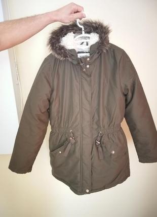 Куртка, парка цвета хаки