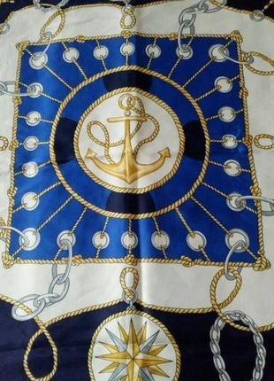 Итальянский платок в морской тематике.4 фото