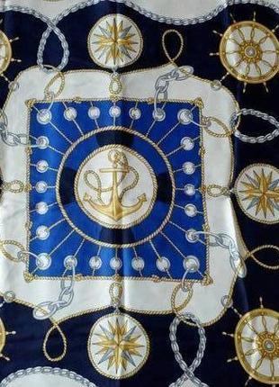 Итальянский платок в морской тематике.5 фото