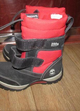 Термо сапоги зимние ботинки  timberland primaloft 200 g идеальное состояние