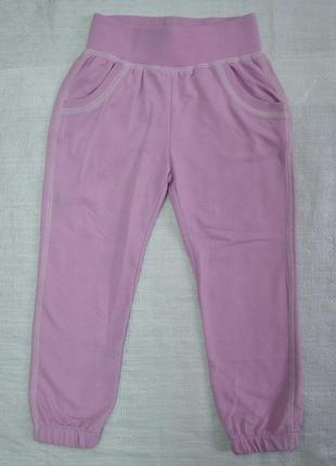 Детские спортивные штаны двунитка glo сиреневые (glo-story, венгрия)