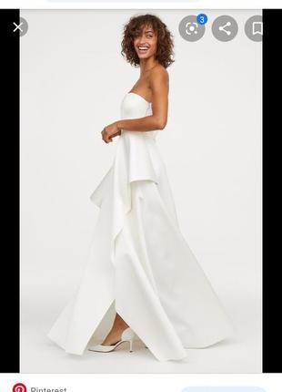 Атласное свадебное платье h&m2 фото