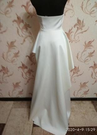Атласное свадебное платье h&m3 фото