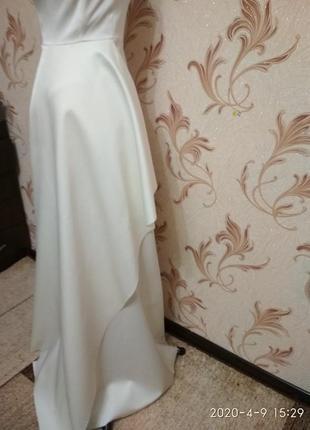 Атласное свадебное платье h&m4 фото