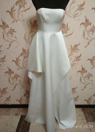 Атласное свадебное платье h&m5 фото