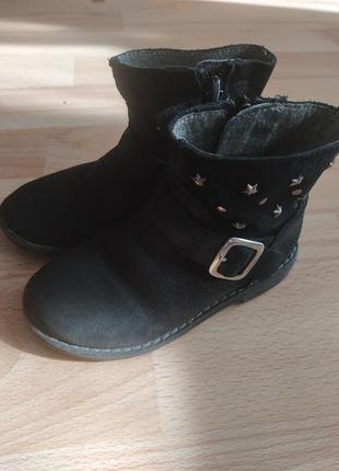 Кожаные стильные ботинки