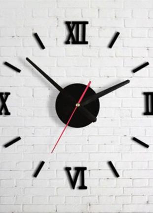 Настенные часы 3 д с римскими цифрами