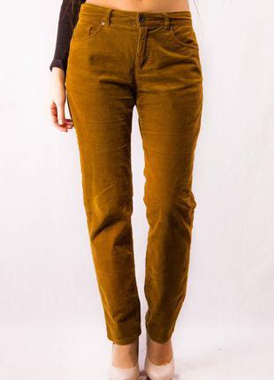 Штаны вельветовые женские рыжие montego (36) (s)