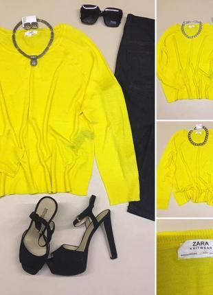 Тонкая, лёгкая  кофта лимонного цвета