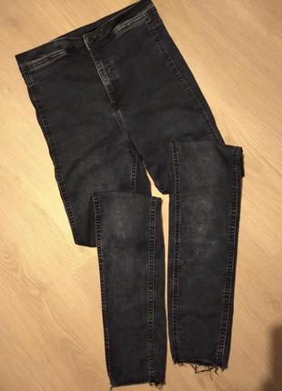 Брендовые брюки джинсы высокая посадка h&m