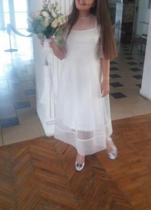 Платье белое, свадебное, дизайнерское,коктельное