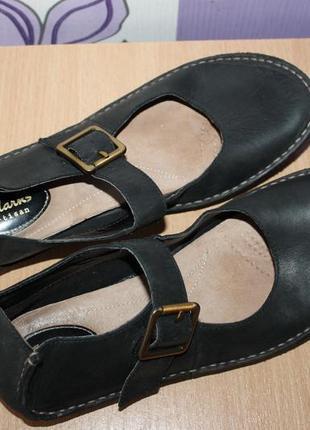 Кожаные туфли мокасины clarks разм 39 индонезия