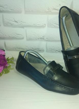 Кожаные туфли мокасины heavenly soles р 41 на широкую ногу