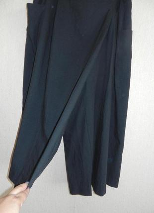 Шикарные брюки-юбка кюлоты с запахом, бохо, большой размер