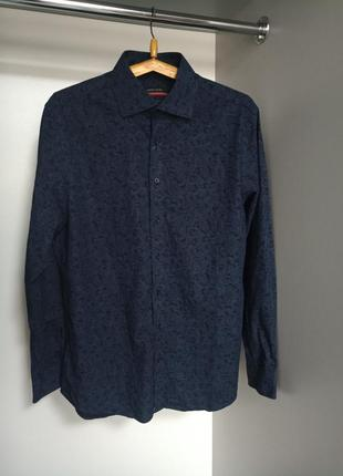 Оригинальная рубашка слегка приталенная pierre cardin 48-50