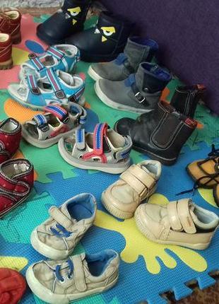 Большой пакет обуви мальчику 19-24 рр,комплект взуття хлопчику
