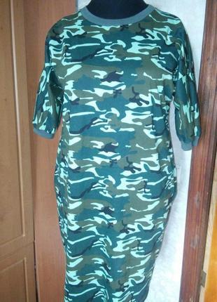 Платье милитари хлопок весна-лето