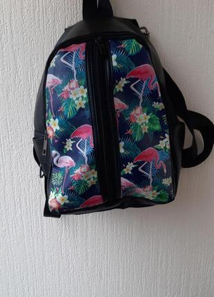 Рюкзак с фламинго!