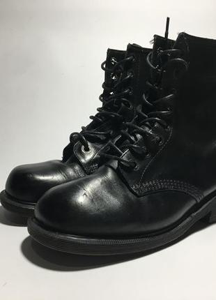 Высокие туфли ботинки dr.martens 2160 черные,кожаные england р.40