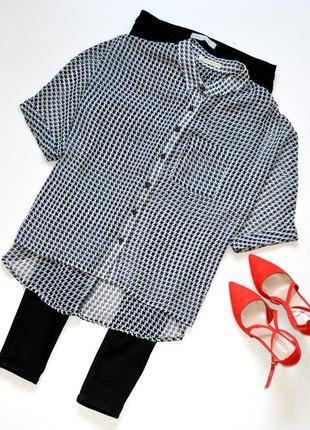Innocence стильная блуза в модный принт,гусиная лапка,свободный крой