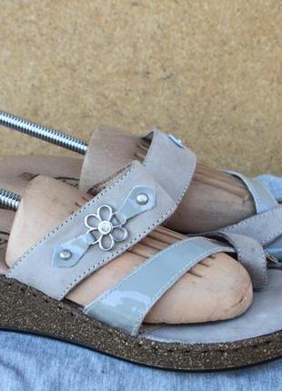 Новые шлепанцы florance кожа италия 37р сандалии босоножки