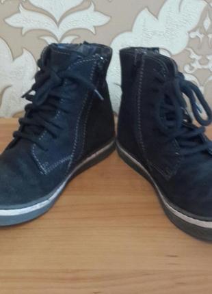 Классные кожаные ботинки. размер 31.