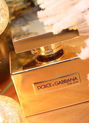 D&g the one gold limited edition_original  eau de parfum 5 мл затест_парфюм.вода