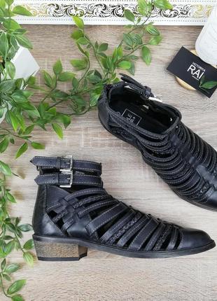 🌿39🌿европа🇪🇺 sole diva. кожа. фирменные стильные ботинки с ремешками, ботильоны