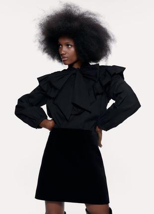 Новая чёрная юбка zara