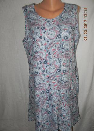 Платье с принтом лен next