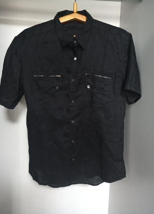 Приталенная рубашка maps company 100% лен