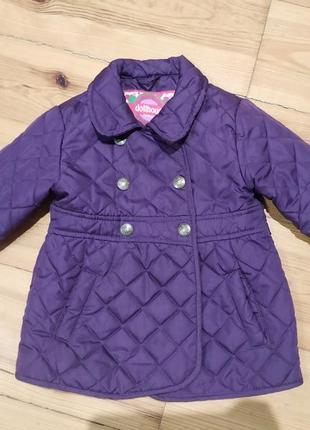 Стильна стьогана куртка підійде на від 1,5 до 2,5 років