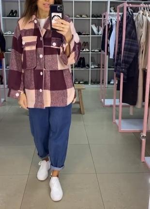 Рубашка пальто в клетку