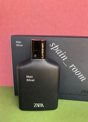 Чоловічі zara silver/парфюм/туалетная вода/парфуми/мужские духи