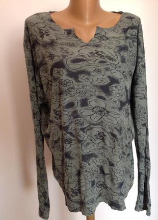 Тонкий трикотажный свитер- блуза /xl- 2 xl/ brend selected