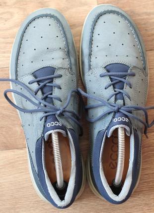 Кожаные туфли-мокасины ecco