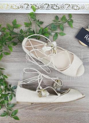 🌿39🌿европа🇪🇺 new look. стильные туфли с актуальной шнуровкой на низком ходу