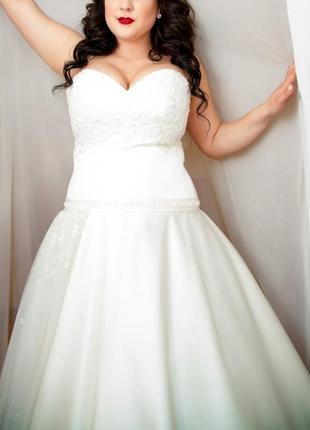 Свадебное платье большого размера на большую грудь