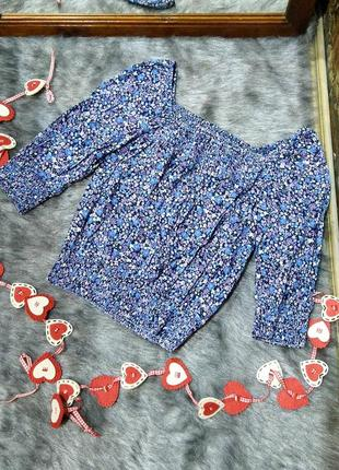 #розвантажуюсь блуза кофточка с цветочным принтом из коттона h&m
