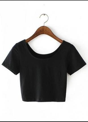 Базовый чёрный топ / футболка / топик