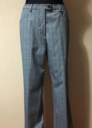 Трендовые стильные брюки клёш/штаны женские в клетку/весенние штанишки