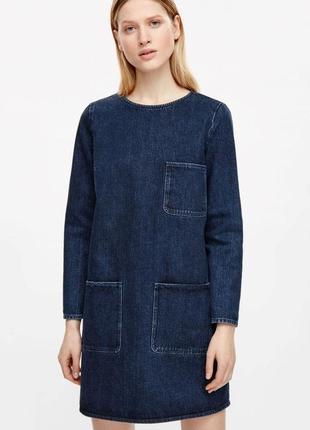 Плотное джинсовое платье cos