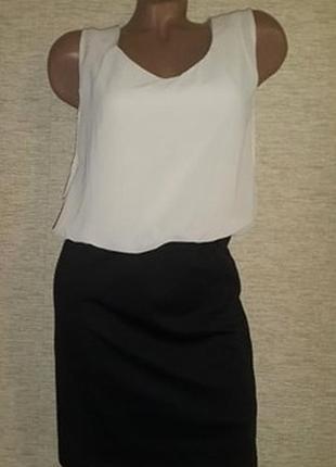 Нарядное женское платье комбинированное трикотаж + шифон бренд papaya