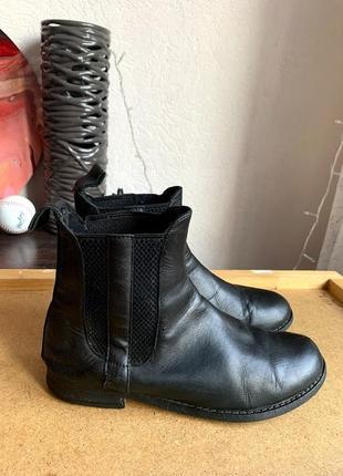 Женские кожаные ботинки челси asos
