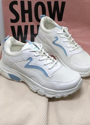 Кроссовки белые легкие в сеточку