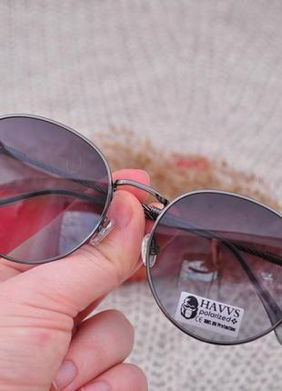 Фирменные солнцезащитные круглые очки havvs polarized