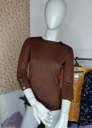 Кофточка stradivarius шооколадного цвета