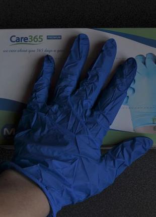 Нитриловые перчатки, не опудренные.