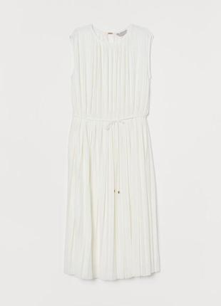 Плиссированное платье h&m